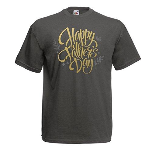 Männer T-Shirt Glücklicher Vatertag - bestes Geschenk von Frau, Sohn oder Tochter Graphit Mehrfarben