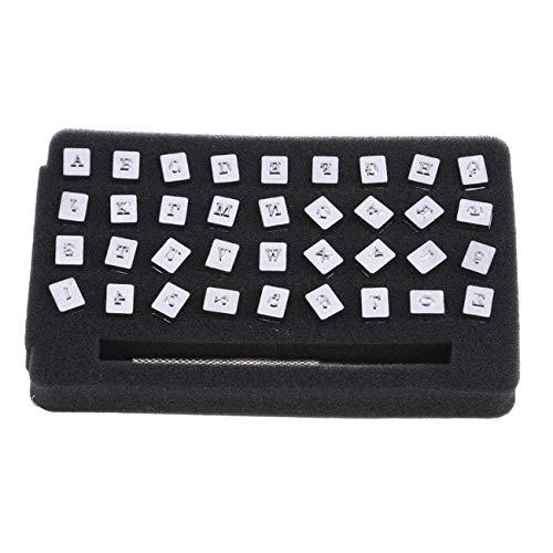 Bigsweety 36 Stücke Eisen Brief Alphabet Siegel Briefmarken Metall Stahl Tag Anhänger Stamping Tool Nachricht Eingefärbt Set, 3.5mm -