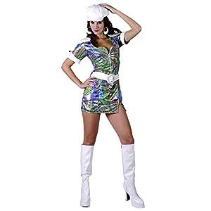 Reír Y Confeti - Fibdis025 - Disfraz Para Adultos - Color Deluxe Costume Disco Gogo - Mujer - Talla M