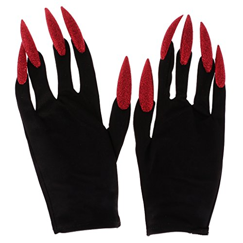 Gazechimp Teufel Handschuhe Halloween Kostüm Zubehör