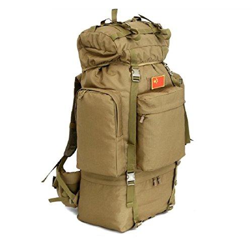 Z&N Backpack Rucksack Outdoor Camouflage GroßE KapazitäT 100L Reise Wanderrucksack Hochwertige Wasserdichte Nylon Camping Fitness Skifahren Wochenende GepäCk Tasche C