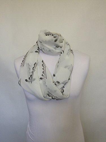 L&S PRINTS FOAM DESIGNS Vespa Logo Infinity Schal Jersey oder Chiffon Unisex Bedruckt Loop Fashion Schals - Infinity Jersey