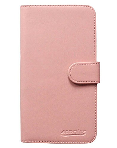 iPhone 6S Plus Book Case Hülle PU Leder Abdeckung - 1 x Gratis klarer Bildschirmschutz (Braun) Pink