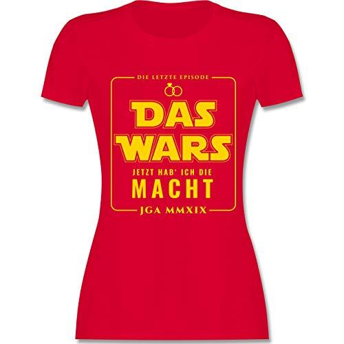 JGA Junggesellinnenabschied - Das Wars JGA 2019 Jetzt hab ich die Macht - M - Rot - L191 - Damen Tshirt und Frauen T-Shirt (Eine Ich Braut-shirt Habe)
