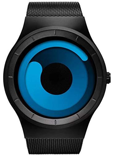 Harbour Analogue Blue Unique Dial Ultra Platform Dial Metal Black Belt Men Watch & Boys Watches- Str