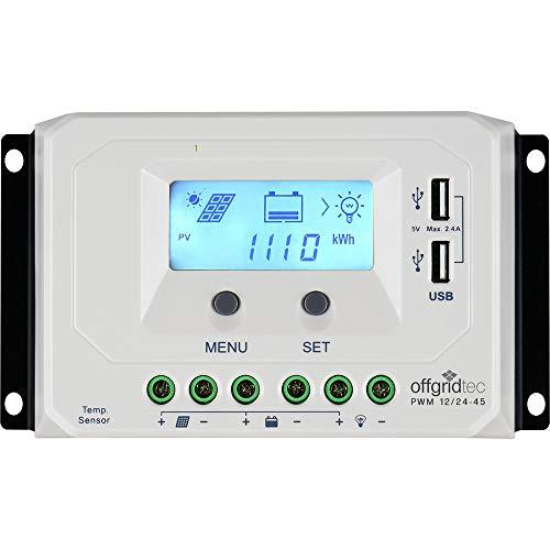 Offgridtec® PWM Pro Laderegler 12V/24V 45A USB