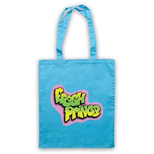 Ispirato Al Principe Fresco Di Bel Air Logo Non Ufficiale Del Capo Borse Blu Chiaro