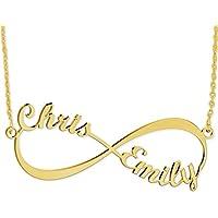 Collana Infinito personalizzabile con nome - Oro Placcato 18K su Argento Sterling