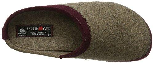 Haflinger - Blizzard Flax, Pantofole Unisex – Adulto Beige (Torf)