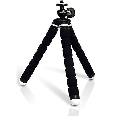 igadgitz Leichtgewichts Klein Universal Ultraflexibel Schaum Dreibeinstativ Mini-Stativ für SLR DSLR Kameras -