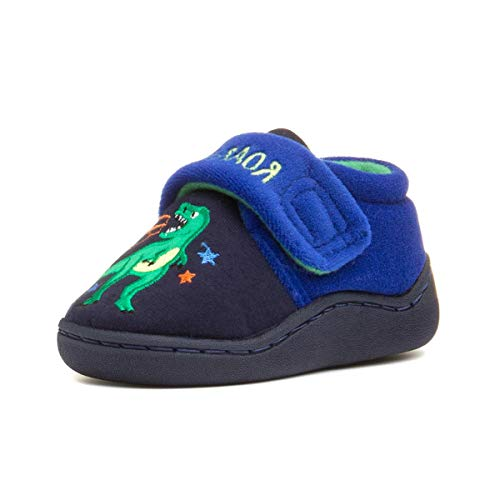 The Slipper Company Kids Navy & Blue Slipper