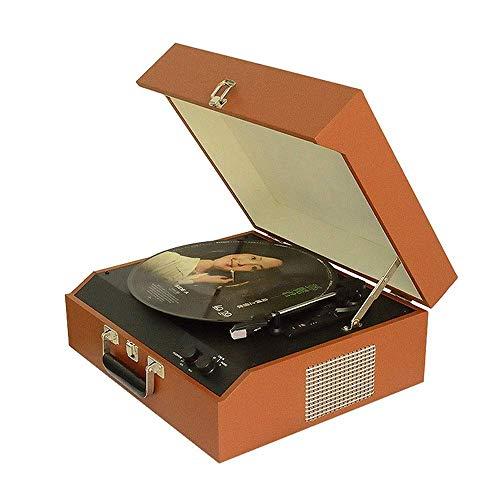 Daxiong Tourne-Disque Vinyle Vintage Portable Vintage Salon Antique Petit Phonographe Tourne-Disque 44 * 35 * 17 Cm,44 * 35 * 17cm
