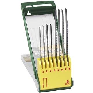 Bosch 8-teiliges Stichsägeblatt-Set, U-Schaft, für Holz, Metall, Kunststoff, 2607019459