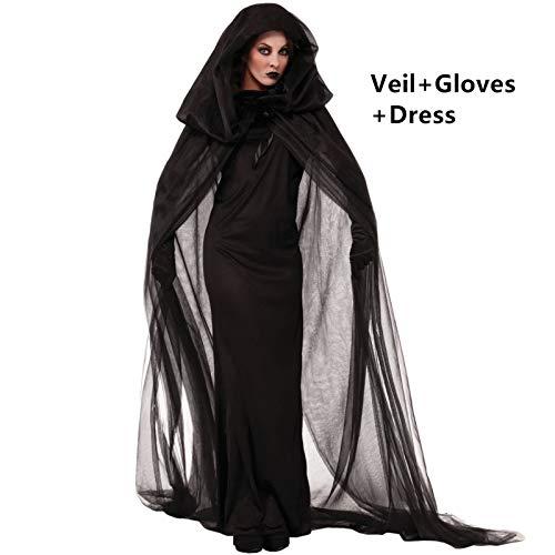 FHSIANN Halloween Kostüme Kleid für Frau Vampir