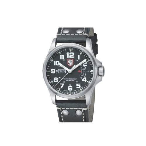 Luminox LU1828 Field Time Date 1800 Black Dial Black Leather Strap Men's Watch