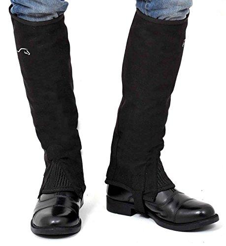 Riders Trend Amara Mädchen Minichaps, mit kristallverzierten Reißverschlüssen schwarz - schwarz
