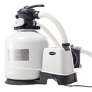 Intex 26652 Pompa a Sabbia - Flusso Acqua: 12.000 l/h, Flusso Sistema: 9.200 l/h