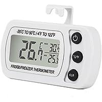 Unigear Termometro Digitale per Frigorifero LCD Display Termometri Impermeabile da Congelatore Frigo Freezer con Gancio