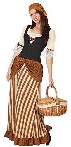 Kostüm Dorfbewohner - Fancy Me Damen Kostüm Innkeeper Dorfbewohner Weihnachtskrippe, Gr. 36-50, Braun