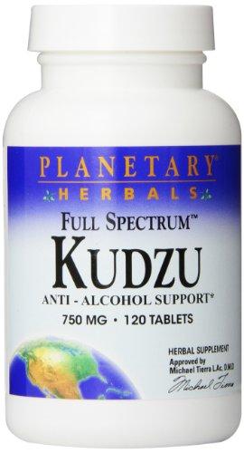 Anti-alkohol Antioxidantien (Planetary Herbals, Kudzu, 750mg, 120 Tabletten)