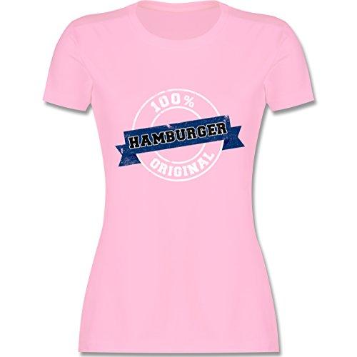 Shirtracer Länder - Hamburger Original - Damen T-Shirt Rundhals Rosa