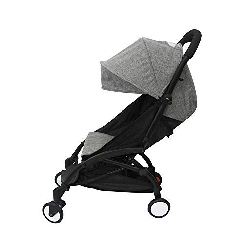 Baby Stroller Accessories Fit for Babyzen Yoyo Canopy and Seat Pad Liners for Yoya (Linen Grey)