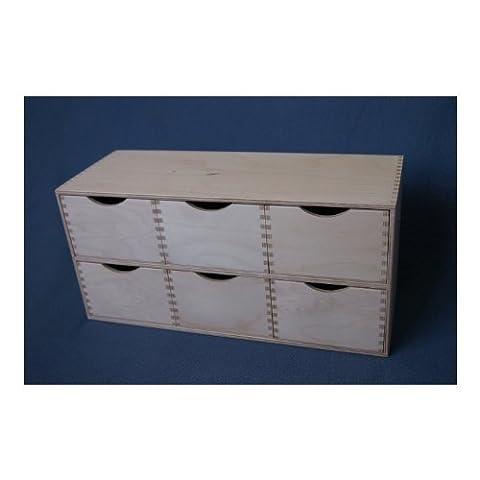 Schubladenbox Box Holzbox Schubladenelement Aufbewahrungsbox Holz Allzweckkiste