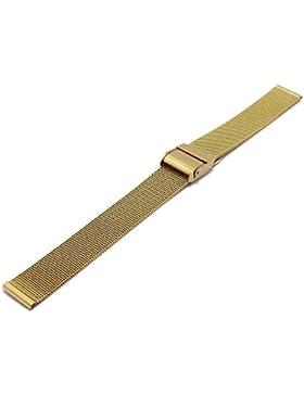 Meyhofer Uhrenarmband Villach 14mm goldfarben Milanaise feines Geflecht Schiebeverschluss MyCrkmb541/14mm/gold...