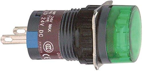 Schneider XB6EAV3BP Leuchtmelder, rund Durchmesser 16, IP 65, grün, Integral LED, 24 V, Stecker Integral Led