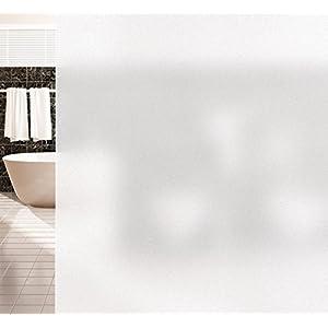 Agoer Statische Milchglas Fensterfolie Privatsphäre Fensterfolie Statisch Selbsthaftend Büro und Zuhause Anti-UV Upgrade,Matt Behandlung für Ihre Privatsphäre, No-Toxic Design,Mattiert 43x300cm