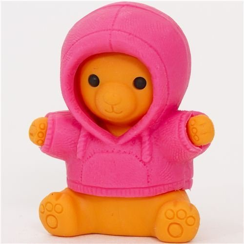 Iwako Bear In Pink Parka Eraser By From Japan by Iwako