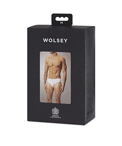 Wolsey Herren Baumwollen Slip (3er Verpackung) Navy