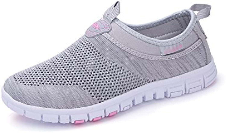 2018 New Lovers Shoes Knit Spring Summer Mocasines y Slip-Ons Transpirables Zapatos de conducciónCalzado Deportivo...