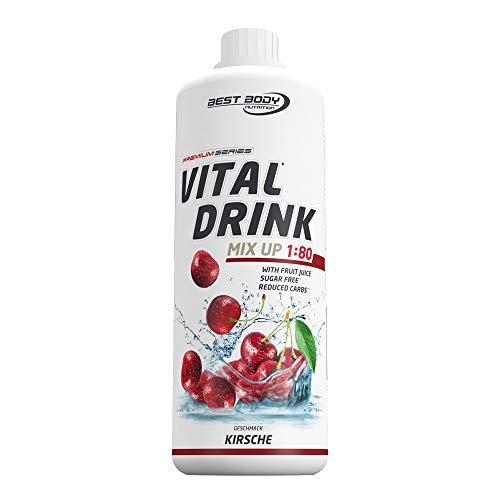 Best Body Nutrition Vital Drink Kirsche, Getränkekonzentrat, 1000 ml Flasche -
