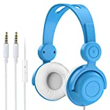 Vogek Over Ear Kids Headphones with Mic, Wired On Ear Child...