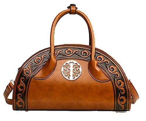 Prom Geldbörse, Sommer Handtaschen Ethnic Style Handtasche Embossed Shoulder Messenger Bag (Farbe : Brown, Größe : 33 * 11 * 20cm) -