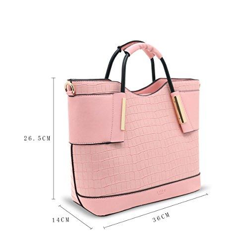 LYDC, Borsa tote donna panna Cream Pink
