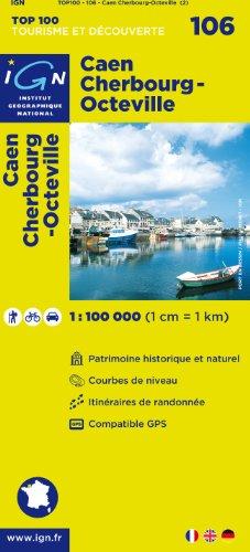 TOP100106 CAEN/CHERBOURG-OCTEVILLE 1/100.000