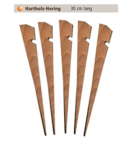 30cm Zeltheringe aus Holz ZM - Outdoor Profi Equipment , Mittelalterzelt Erdnagel Felsnagel