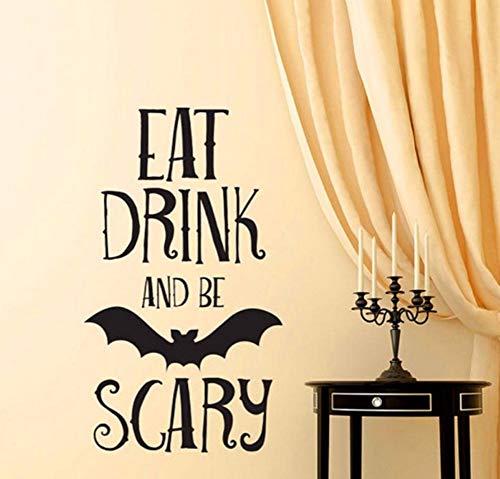 Halloween Umweltschutz Halloween Buchstaben Wandaufkleber Fenster Dekoration Aufkleber Decor Aug3 30 * 55 Cm ()