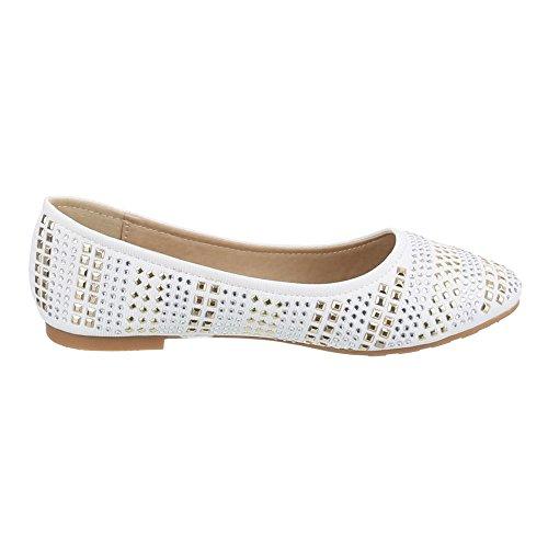Ital-Design - Ballerine Donna Bianco (bianco)
