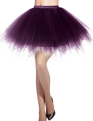 Dresstells Damen Tüllrock 50er Rockabilly Petticoat Tutu Unterrock -