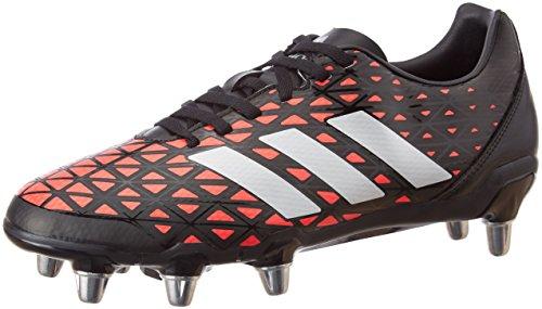 Adidas Kakari Sg, Scarpe da Rugby Uomo, Multicolore (Cblack/Silvmt/Shored), 45 1/3 EU
