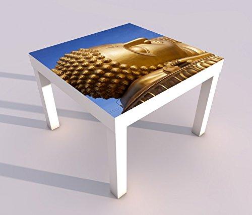 Design - Tisch mit UV Druck 55x55cm Big Buddha Schlaf Thailand Statue Spieltisch Lack Tische Bild Bilder Kinderzimmer Möbel 18A1078, Tisch 1:55x55cm