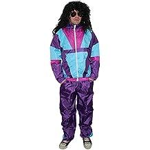 Foxxeo 40021 | 80er Jahre Kostüm für Herren Trainingsanzug Assianzug Assi Gr. M - XXXL