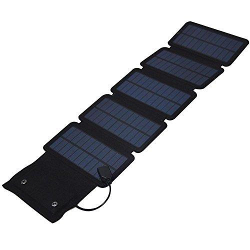 Beimaji Trade Solar Panel Tragbar, 7.5W Ultra Light Power Bank Ladegerät Treasure Folding Bag, Outdoor Panel Mobile Notfall Mobile für Handy, Tablets, Rucksack, Camping, Reise -