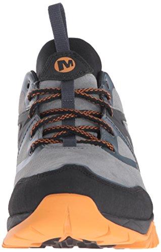 Merrell Capra Bolt Cuir Randonnée Waterproof Chaussures Hommes Noir-Gris