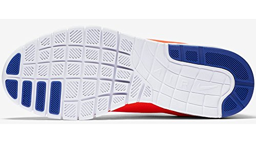Nike Stefan Janoski Max, Chaussures de Skate Homme, 47.5 EU Orange - Naranja (Naranja (Total Crimson/Racer Blue-White))