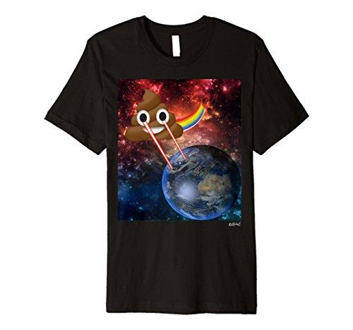 Poop Emoji-T Shirt Cosmic Laser Augen Platz Poop -