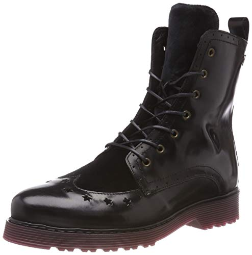Tommy Hilfiger Damen MODERN Leather LACE UP Combat Boots, Schwarz (Black 990), 38 EU